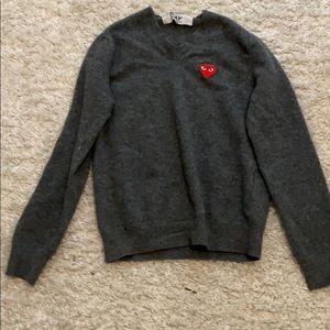 commes garçon wool sweater